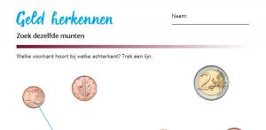 Rekenblad - zoek dezelfde munten